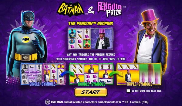 플레이텍-릴게임-Batman & The Penguin Prize